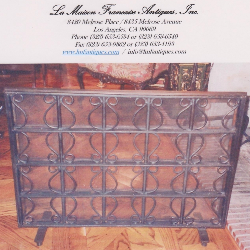 Provencal Hand Forged Iron Screen