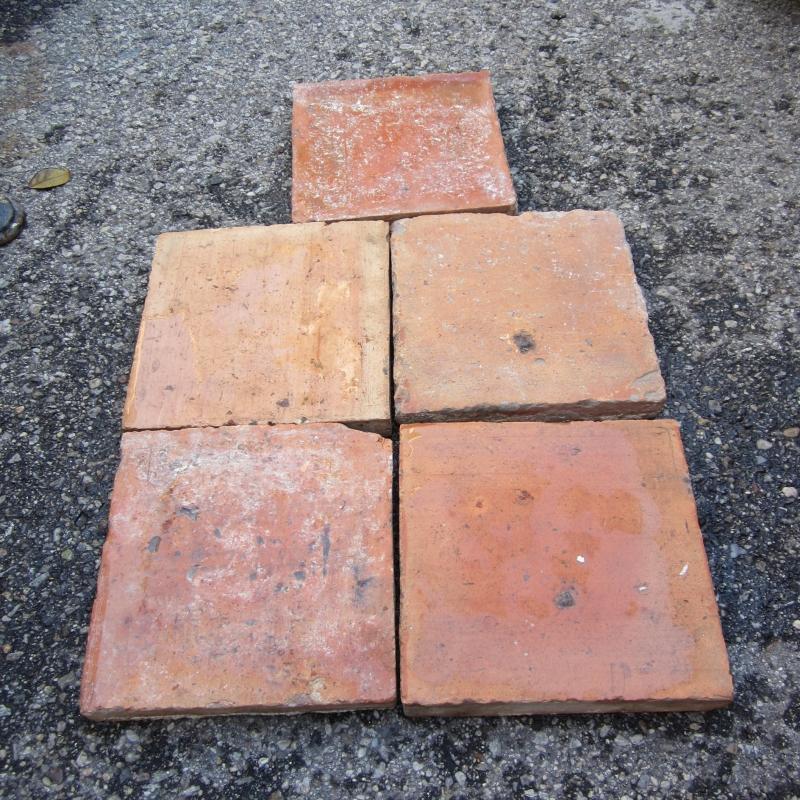 17 18th Century Terracotta Floor Tile From France