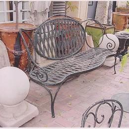 Nice Art Nouveau Bench