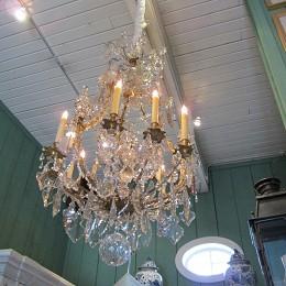 Official la maison francaise antiques website chandeliers product page an exquisite gilded bronze baccarat chandelier aloadofball Image collections